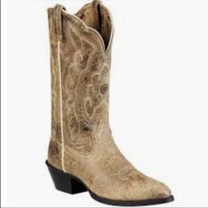 Ariat Heritage distressed leather cowboy boots